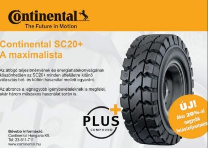 A megújult Continental SC20+ tömör abroncs