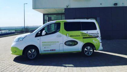 100%-ban elektromos furgon a Sipospack szolgálatában