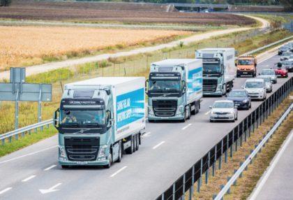 Tesztelték az önvezető kamionokat
