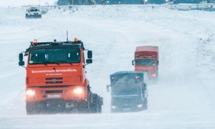 Szibériai körülmények között teszteltek önvezető kamionokat