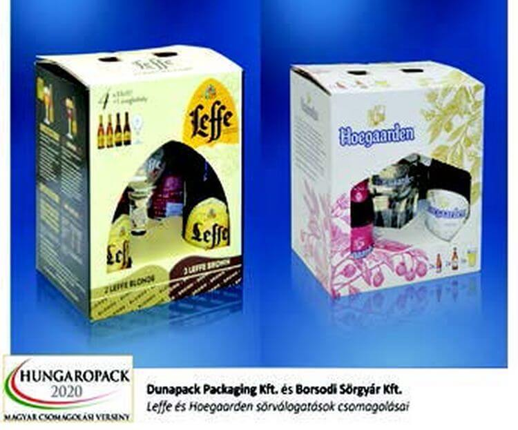 Leffe és Hoegaarden sörválogatások csomagolása