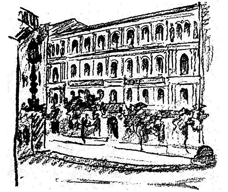 A Hungária Nyomda 1870-es évekbeli első épülete