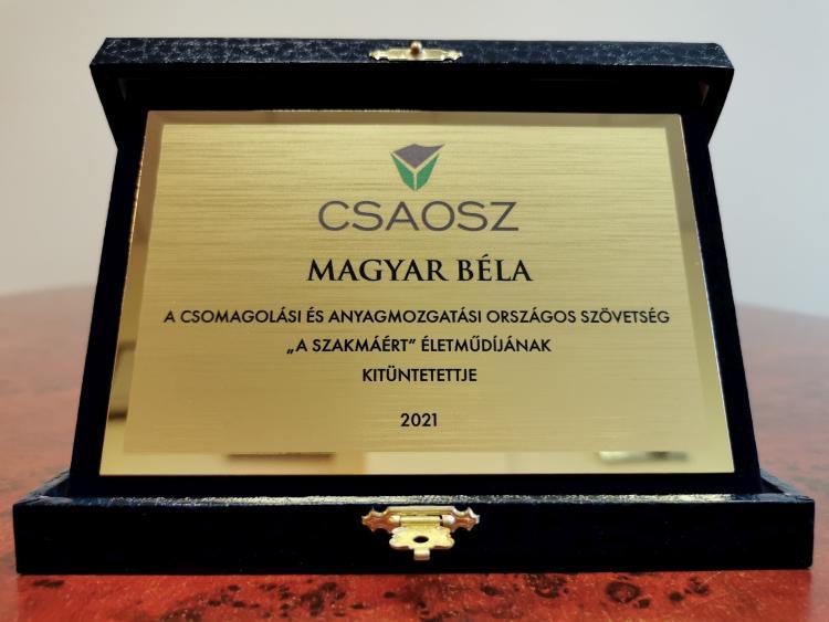 A szakmáért életműdíjat Magyar Bélának adományozta idén a CSAOSZ