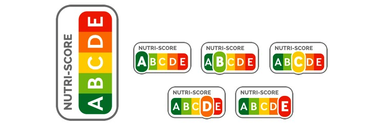 Nutri-Score tápértékjelölő címke csomagoláson