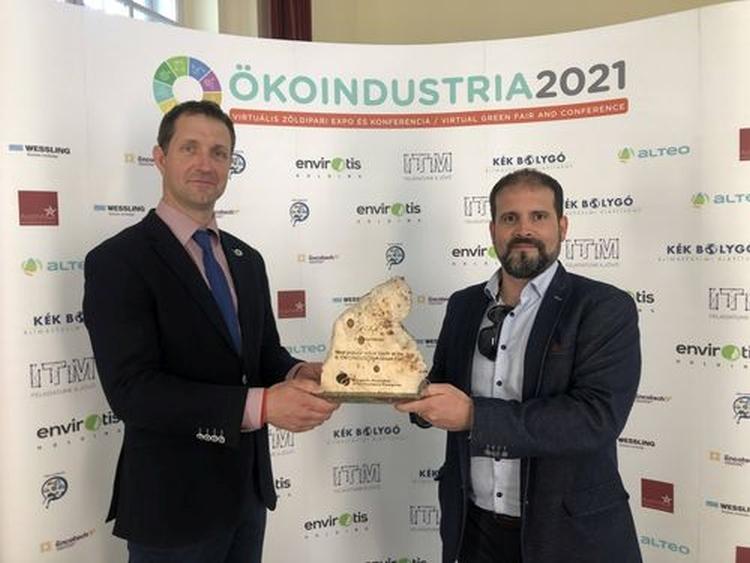 ökoindustria nagydíj Czeglédi Andor