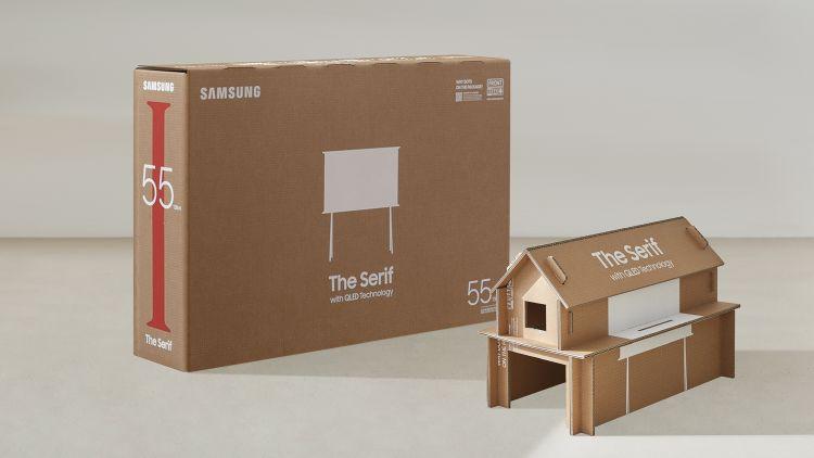 televízió csomagolás újrafelhasználás samsung