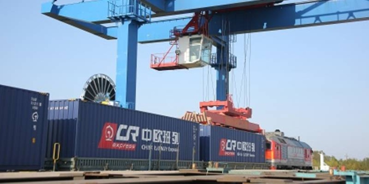 konténer vasúti áruszállítás