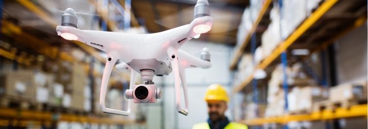drón légi közlekedés raktározás