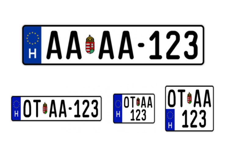 új rendszámtáblák címer