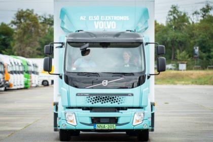 Már dolgozik az első szériás e-teherautó itthon